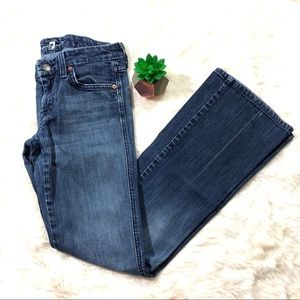 7 For All Mankind Low Rise Flare Jeans